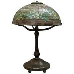 Signed Tiffany Studios Apple Blossom Table Lamp
