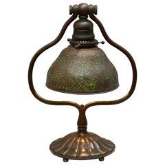 Tiffany Studios Harp Lamp with Pine Needle Shade