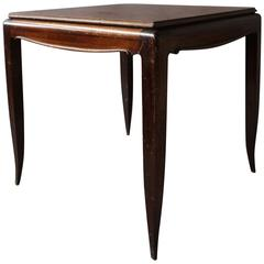 Fine French Art Deco Rosewood Game Table