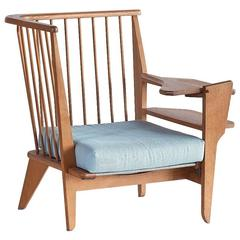 Guillerme & Chambron Corner Chair in Solid Oak