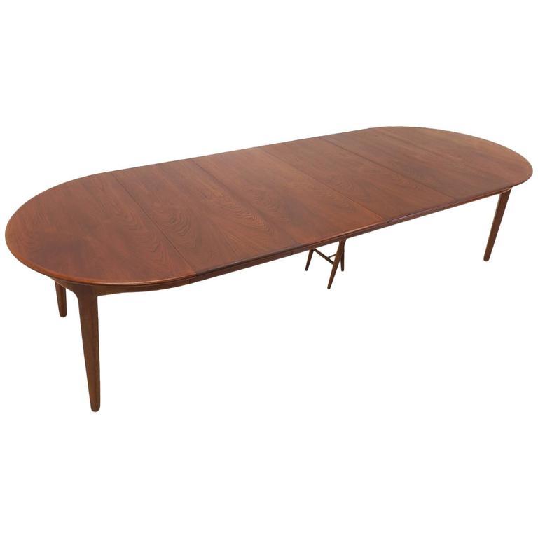 Teak Extension Dining Table By Soro Stole Denmark 8 Chairs Vilhelm Wohlert For