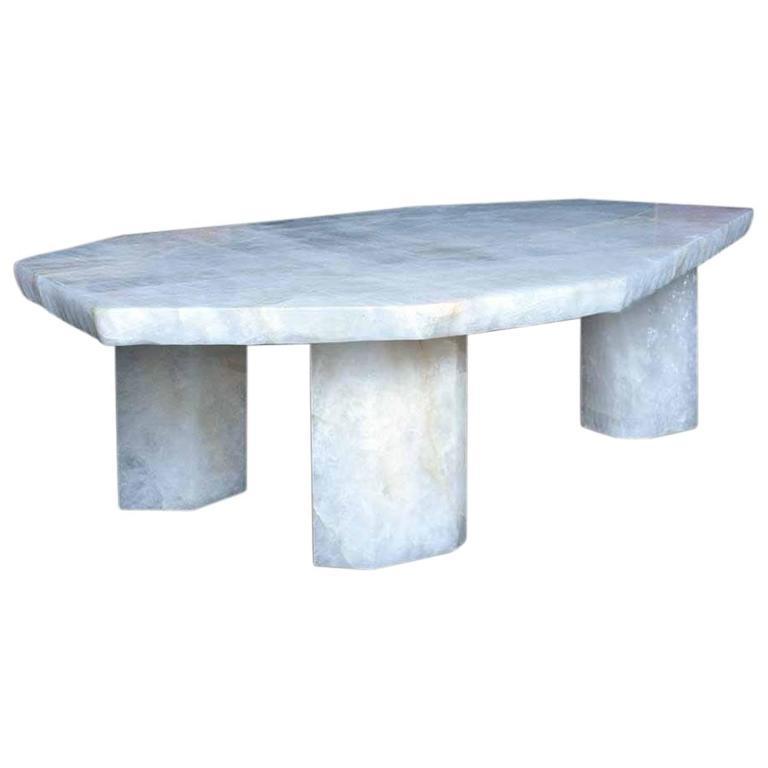 Polygon Form Rock Crystal Low Table, Designed by Adam Fuks