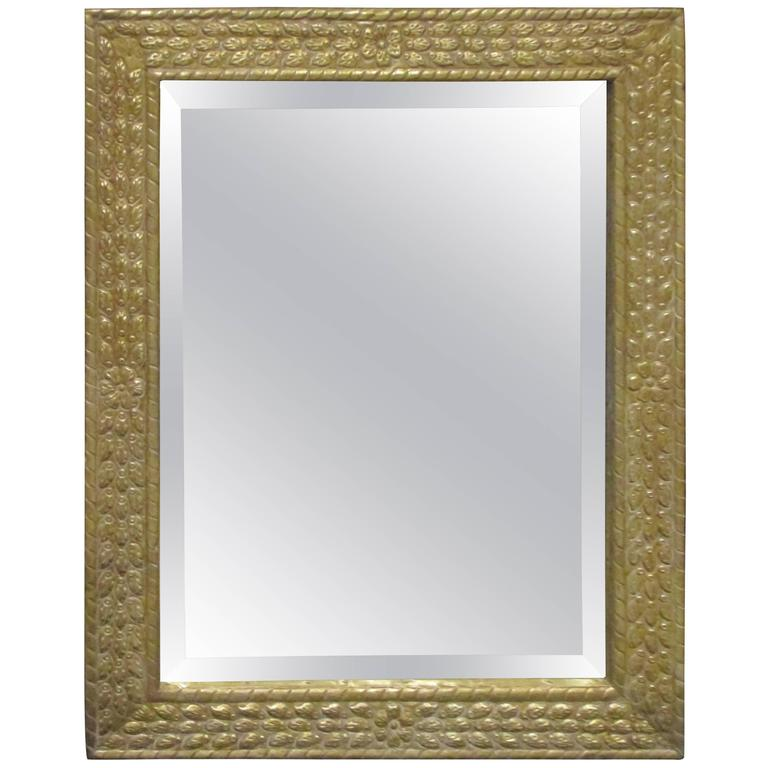 Anglo-Japanese Style Metal-Clad Mirror 1