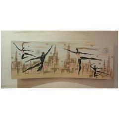Bily Snel Ballet 1950s Painting in Three Dimensional Cineascope