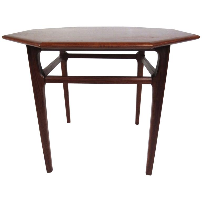 Mid Century Modern Octagonal Side Table By Mersman For Sale