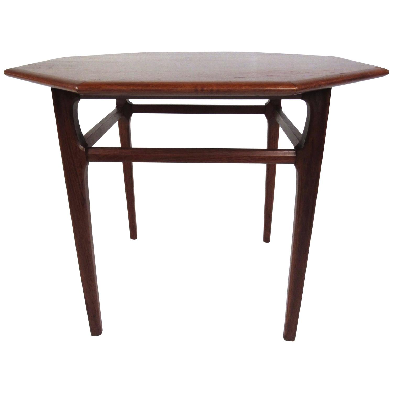 MidCentury Modern Octagonal Side Table by Mersman For Sale at 1stdibs