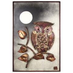 Vintage Owl Metal Wall Art by Alex Kovacs