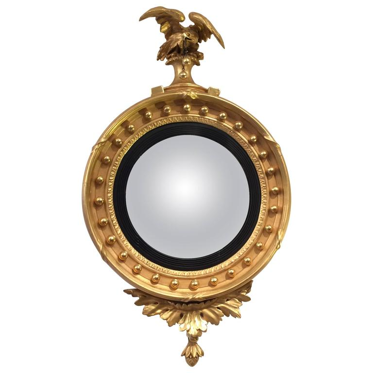 19th century federal bullseye convex mirror for sale at for Convex mirror for home