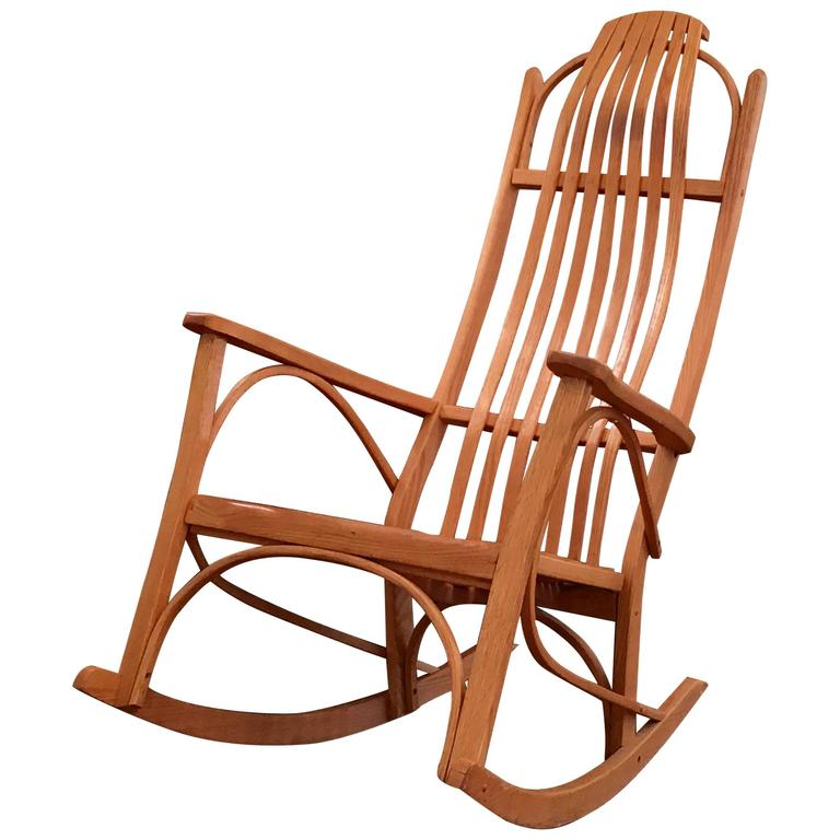 bentwood rocking chair for sale at 1stdibs. Black Bedroom Furniture Sets. Home Design Ideas