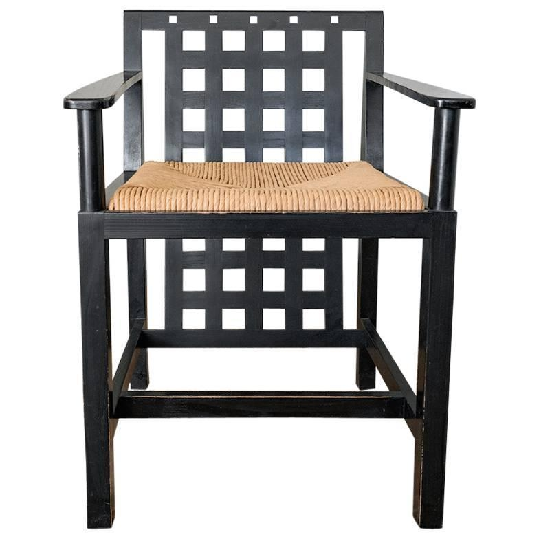 Black Chair By Charles Rennie Mackintosh For Sale At 1stdibs