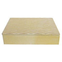Ivory and Brown Shagreen Box by Fabio Ltd