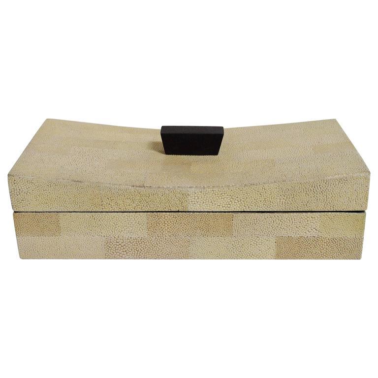 Beige Shagreen Box