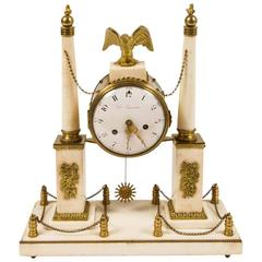 19th Century Marble and Gilt Bronze Mantel Clock