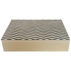 Ivory and Black Shagreen Box by Fabio Ltd