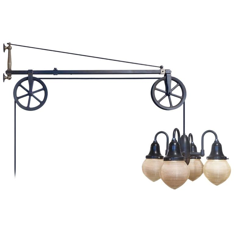 original swing arm dental pulley lamp at 1stdibs. Black Bedroom Furniture Sets. Home Design Ideas