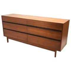 Walnut and Rosewood Six-Drawer Dresser by Kipp Stewart for Calvin