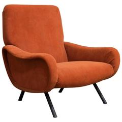 1951, Marco Zanuso, Lady Chair in Soft Velvet/Terra Fabric for Arflex