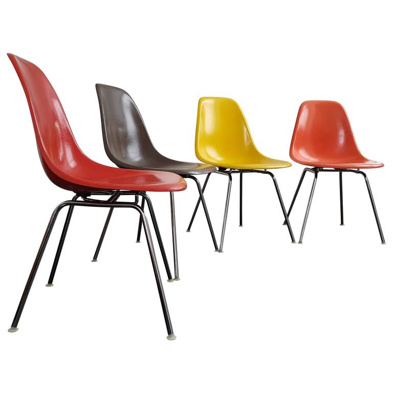 Original Vintage Set of Charles and Ray Eames DSX Chairs