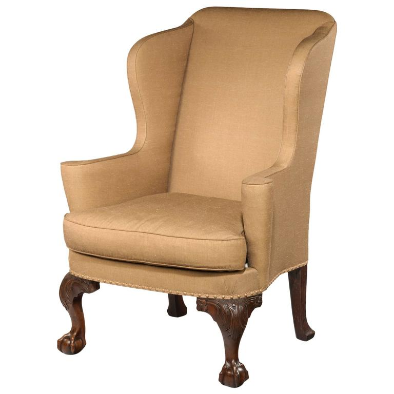 Georgian Walnut Wing Armchair