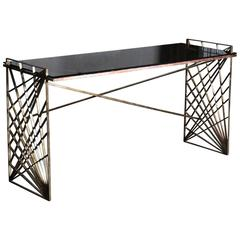 1940s Sculptural Console Table or Desk
