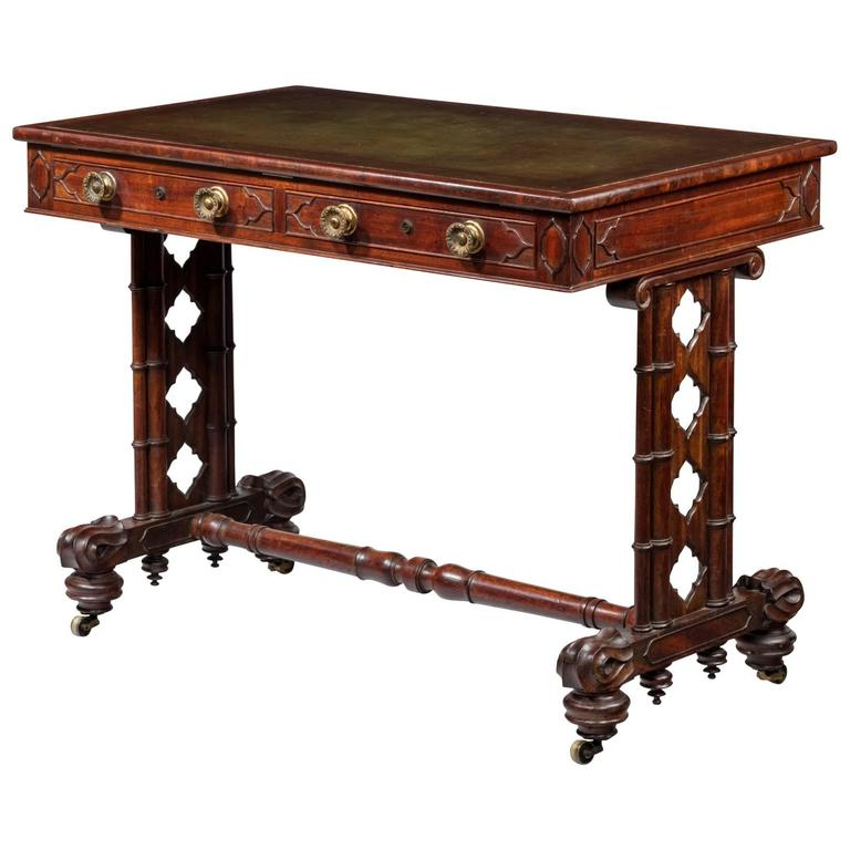Regency Mahogany Writing Table or Desk