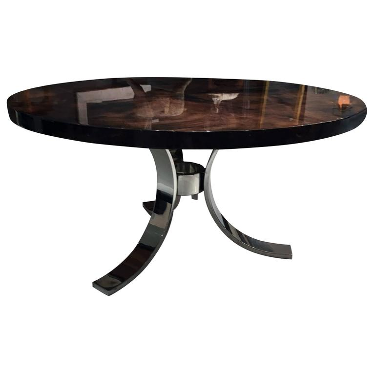 Italian Centre Table with Parchment Top by Aldo Tura 1