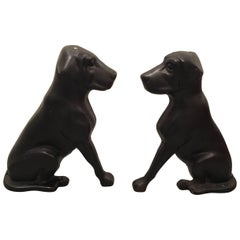 Vintage Cast Iron Labrador Dog Andirons by Liberty Foundry Co.