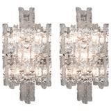 Pair of Kalmar Glass Sconces