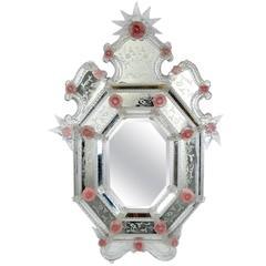 Vintage Venetian Etched Mirror