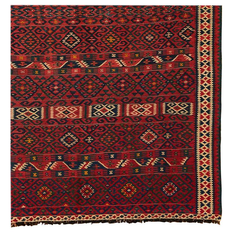 Vintage Mexican Zapotec Pictorial Rug At 1stdibs: Vintage Embroidered Van Rug, Circa 1940 For Sale At 1stdibs