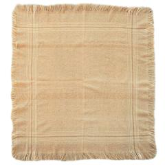 19th Century Handwoven Alpaca Throw