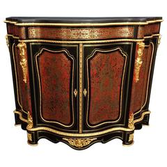 "Furniture in Boulle Marquetry Stamped ""F. Roux"" Napoleon III Period 19th Century"