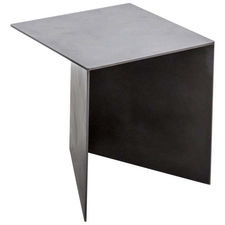 Tack End Table C by Uhuru Design, hand blackened steel