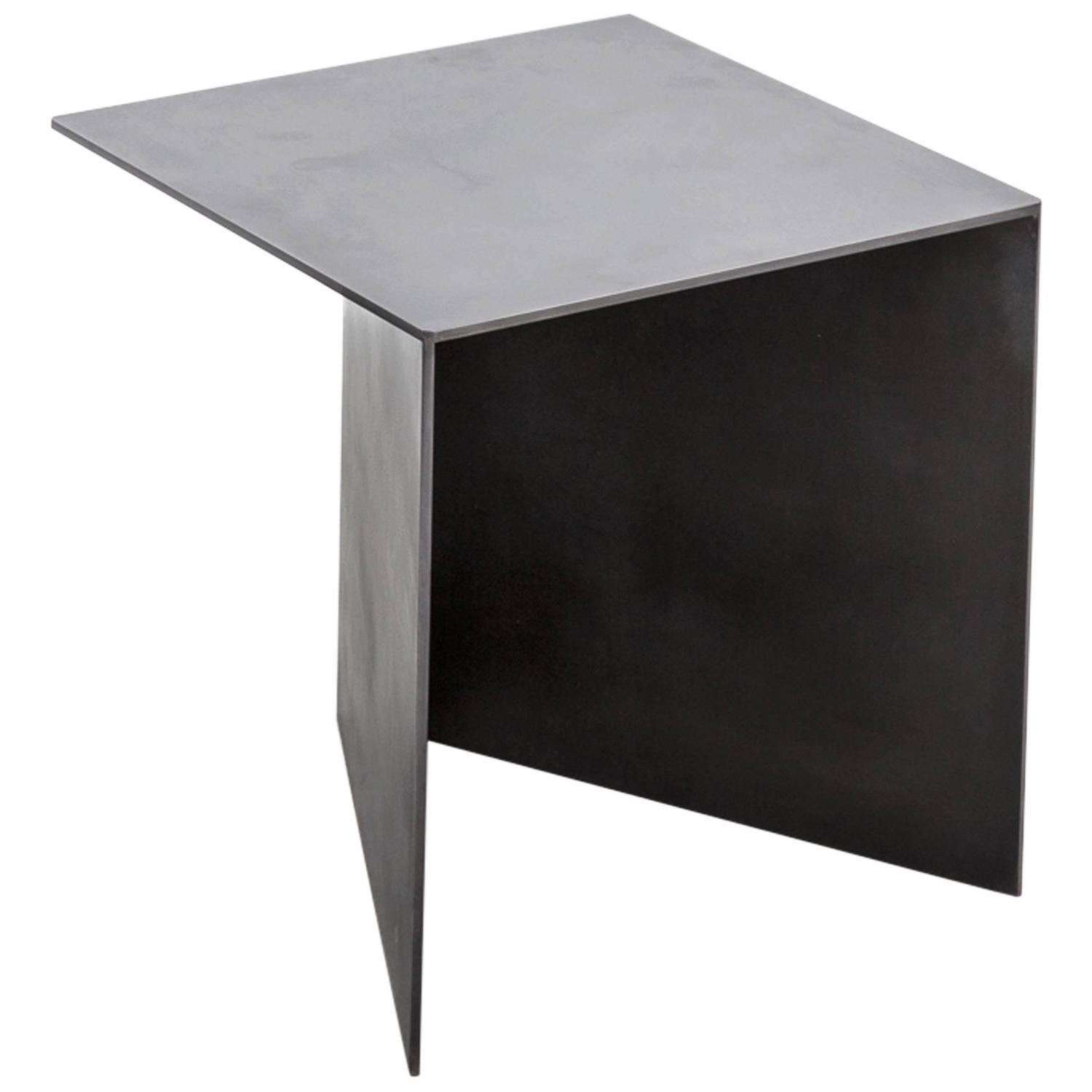 Tack End Table C By Uhuru Design, Hand Blackened Steel For Sale At 1stdibs