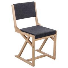 Lappland Chair by Uhuru Design, oak, grey wool