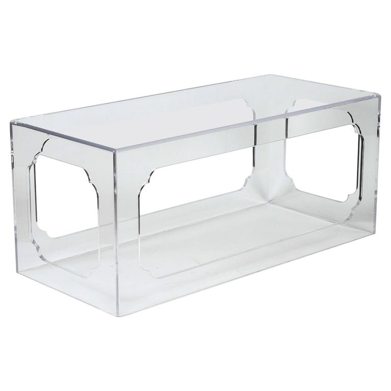 Hollyhock Meiji Acrylic Coffee Table In Clear For Sale At 1stdibs