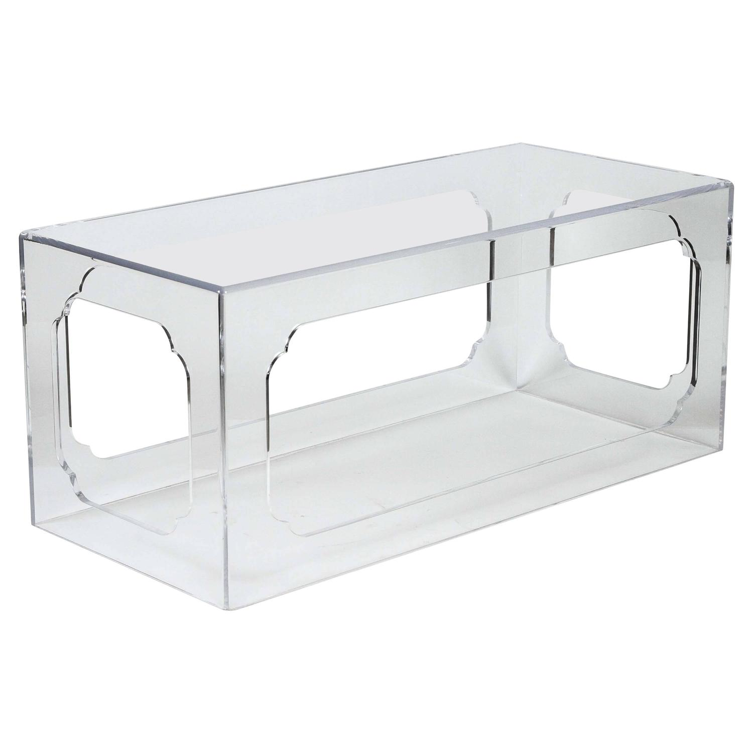Hollyhock meiji acrylic coffee table in clear for sale for Acrylic coffee tables for sale
