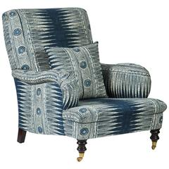 "Hollyhock ""Folly"" Chair in Suzanne Rheinstein Hollyhock Indian Zag Fabric"