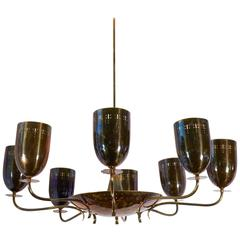 German Mid-Century Modern Eight-Arm Chandelier