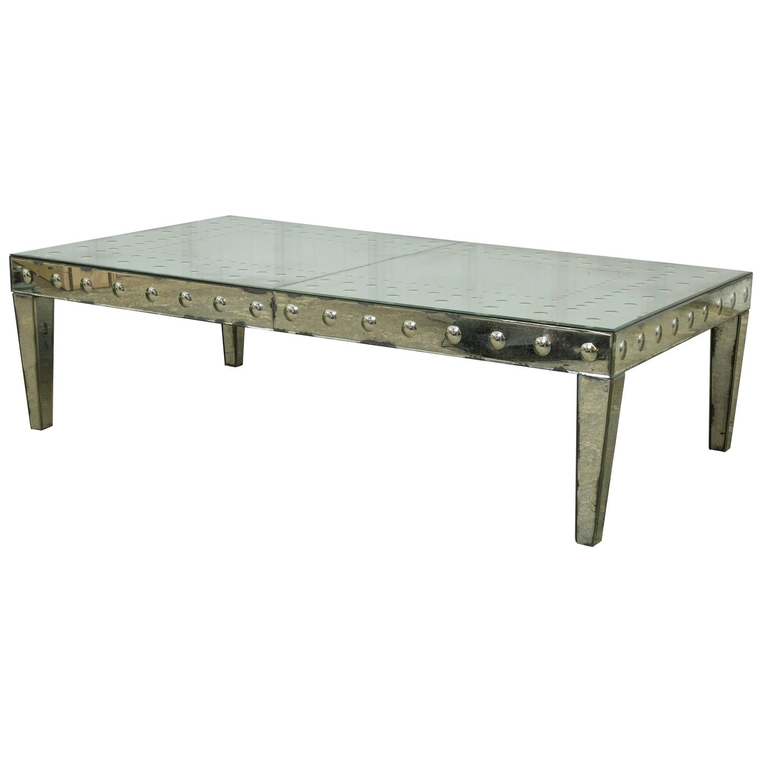Mirrored Coffee Table Sale: Antiqued Mirror Coffee Table For Sale At 1stdibs