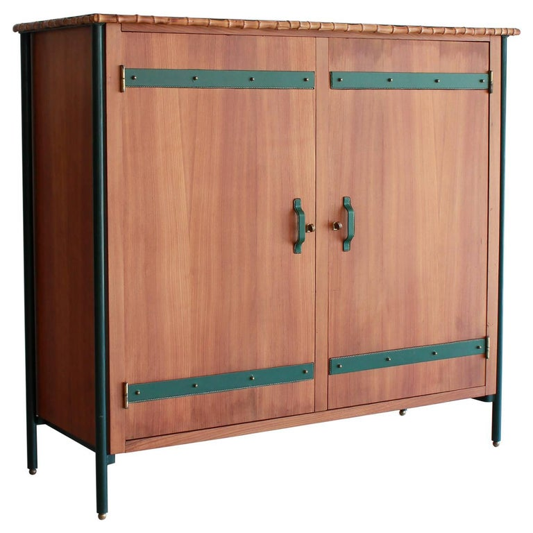 Jacques Adnet armoire, 1940s, offered by Orange Furniture