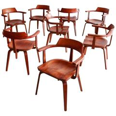 Set of Eight W199 Armchairs by Walter Gropius and Ben Thompson