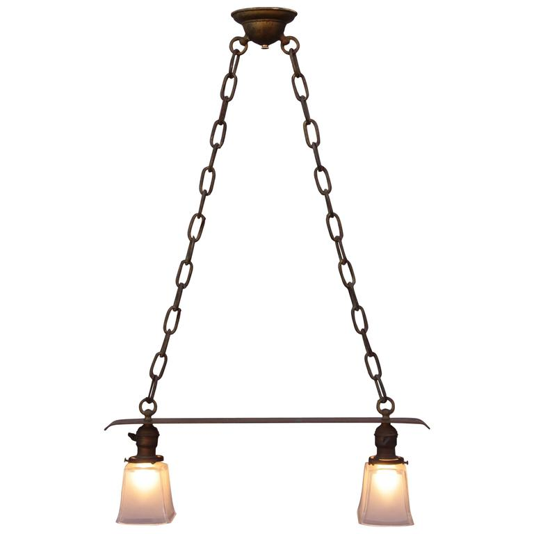 Early 20th Century Copper Chandelier