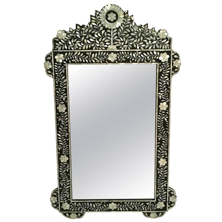 Syrian Mirror With Mother Of Pearl Inlay At 1stdibs