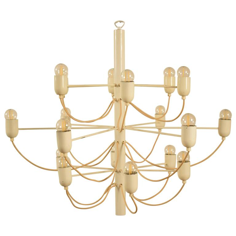 Chandelier in the Stil of Gino Sarfatti For Sale