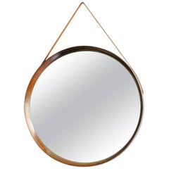 Scandinavian Modern Rosewood Wall Mirror by U. & O. Kristiansson for Luxus