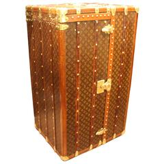 1920s Extra Large Louis Vuitton Wardrobe Steamer Trunk
