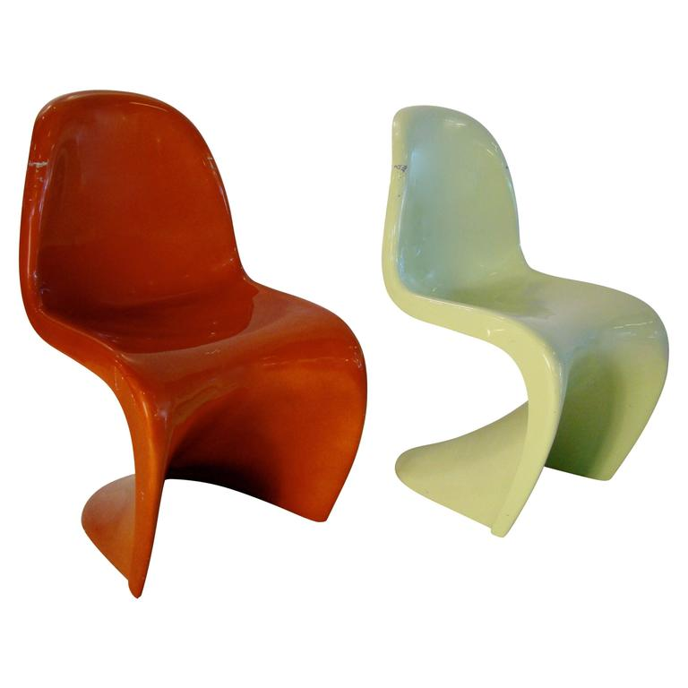 verner panton original s chair in polyester and fiberglass circa 1965 for sale at 1stdibs. Black Bedroom Furniture Sets. Home Design Ideas