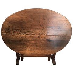 19th Century French Walnut Vendange Wine-Tasting Table