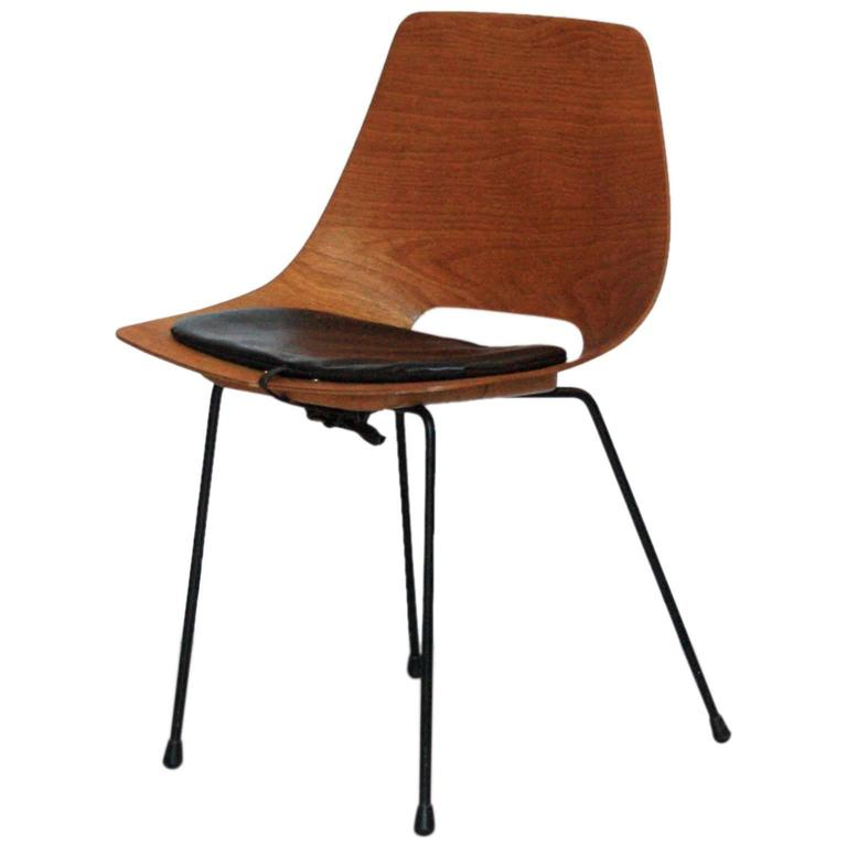 "Pierre Guariche ""Tonneau"" Dining Chair for Steiner, France, 1951 1"
